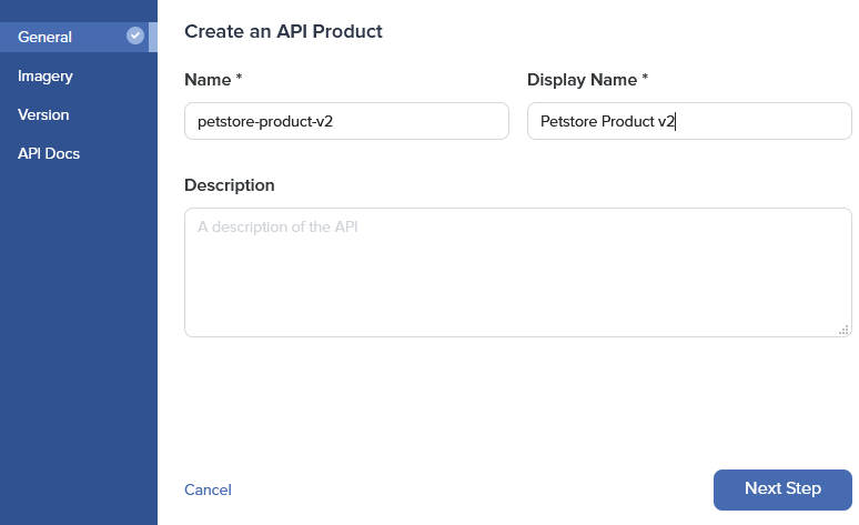 Admin Dashboard Create API General