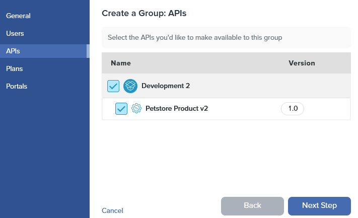 Admin Dashboard Create Group APIs