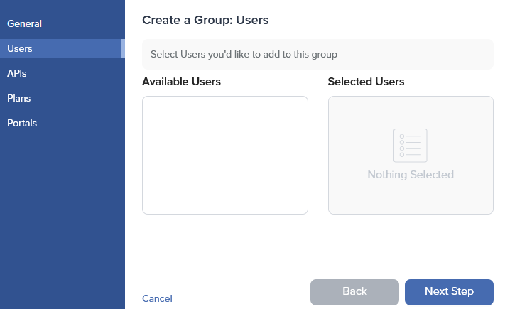 Admin Dashboard Create Group Users
